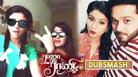raja rani vijay 12th dec vijay tv raja rani serial dubsmash shooting spot actress