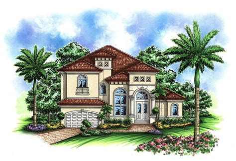 Two Story Mediterranean House Plan 66237we Two Story House Plans Mediterranean