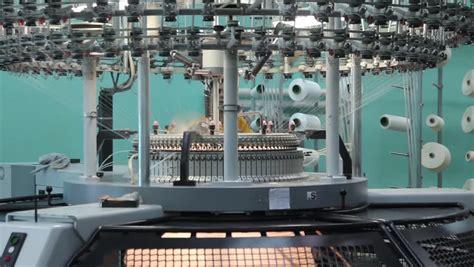 industrial knitting machine industrial knitting machine stock footage 6708796