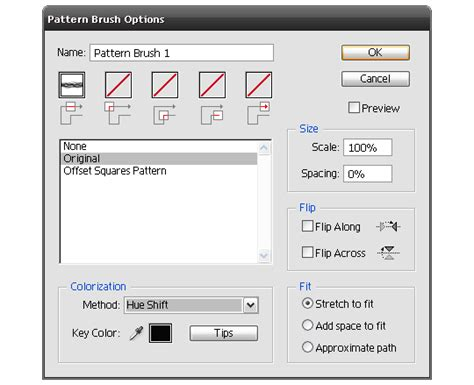 pattern brush options how to make a vector pattern brush go media