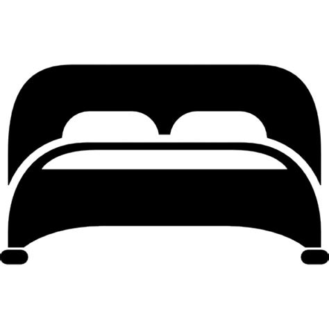 bed with two pillows bottom view icons free download