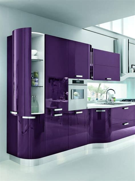 gloss purple kitchen cabinets quicua purple kitchen ideas for unique and modern look diy home