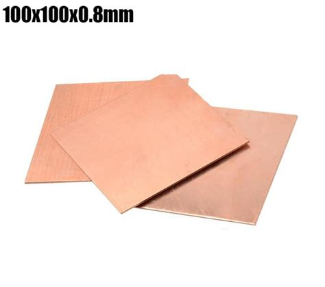 heat sink sheet 100x100x0 8mm thin copper paper heat sink plate sheet home