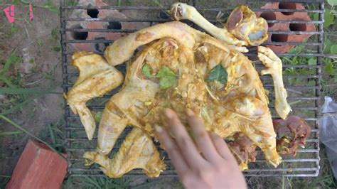 grilled chicken recipe on rice field near my home
