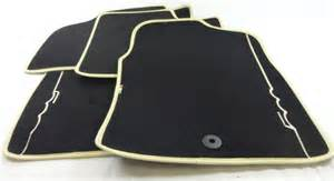 Fiat 500 Floor Mats For Sale Genuine Fiat 500 Ivory Logo Trim Car Floor Foot Mats