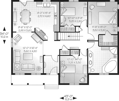 One Floor Home Plans 654151 One Story 3 Bedroom 2 Bath Southern Country Farmhouse Eplans New American House Plan