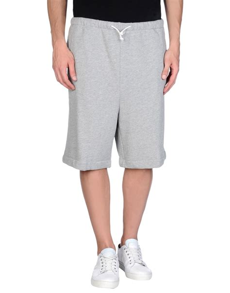 light grey adidas pants lyst adidas originals bermuda shorts in gray for men