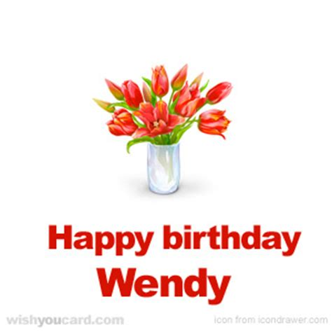 Wendy S E Gift Card - happy birthday wendy free e cards