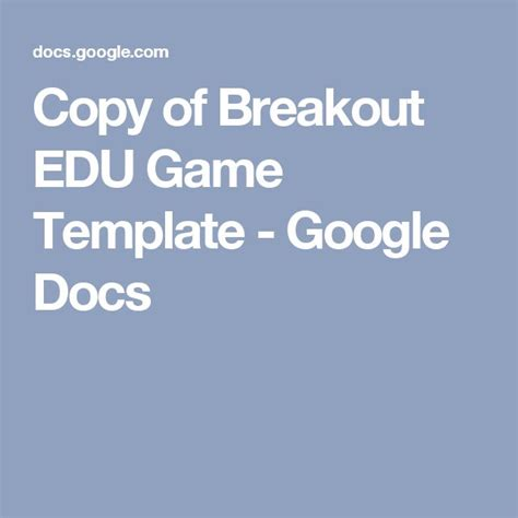crossword template for google docs best 25 breakout edu ideas on pinterest breakout boxes