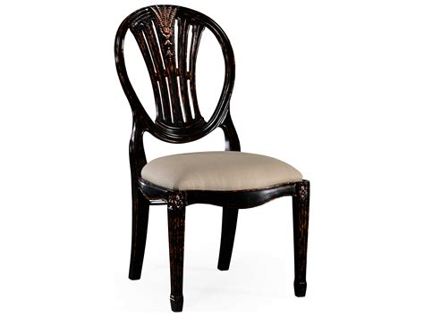 Black Distressed Dining Chairs Jonathan Charles Country Farmhouse Painted Honey Black Distressed Dining Chair 493760