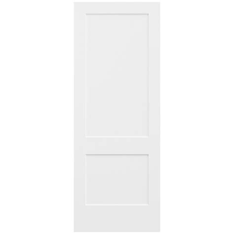 Jeld Wen 36 In X 96 In Smooth 2 Panel Primed Solid Core 96 Interior Doors