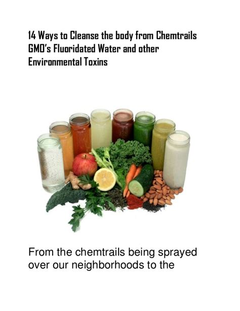 Ways To Detox From Nanochemtrails by 14 Ways To Cleanse The From Chemtrails Gmo S