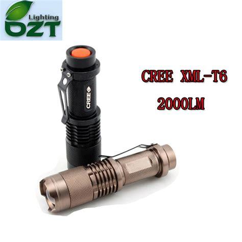 Led Cree 6 Mata cree xm l t6 1600lumens cree led torch zoomable cree