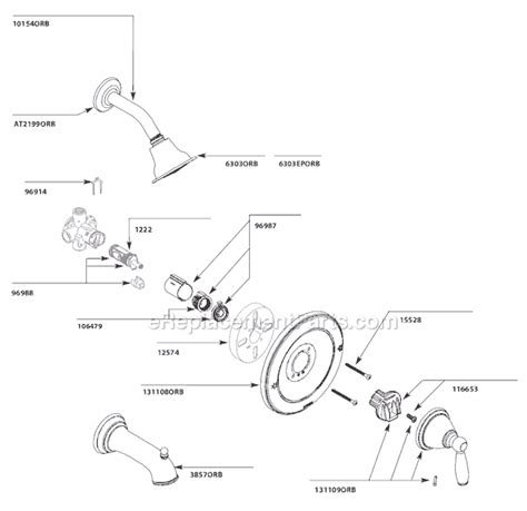 Shower Parts Names by Moen T2152orb Parts List And Diagram Ereplacementparts