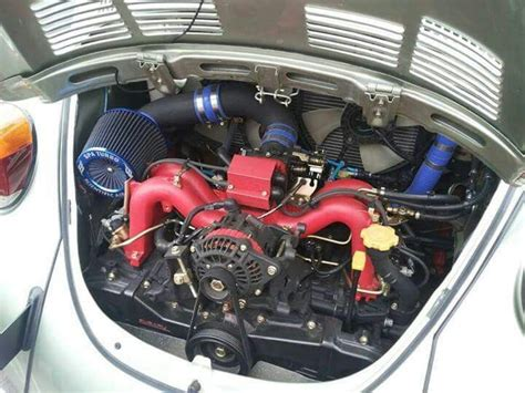 subaru boxer engine in vw vw beetle running a subaru turbo engine a beetle