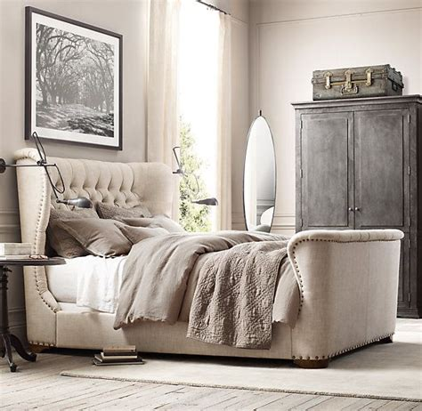 restoration hardware upholstered bed best 25 upholstered beds ideas on pinterest grey