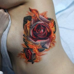 flaming rose tattoo best ideas gallery part 3