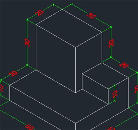 cara membuat gambar 3d autocad 2014 belajar autocad memberikan dimensi pada objek isometrik