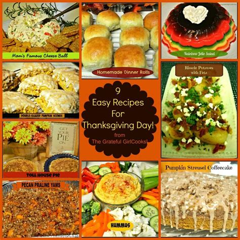 easy day recipes 9 easy recipes for thanksgiving day the grateful