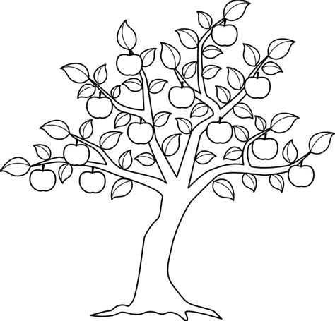 coloring pages for apple trees apple tree color me pinterest motifs pinterest