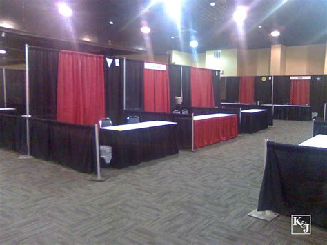 trade show drapes and pipes exhibit drapery av party rental