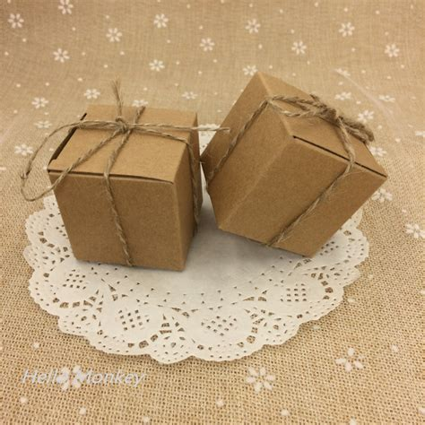 How To Make Paper Out Of Hemp - free shipping 5x5x5cm kraft paper wedding