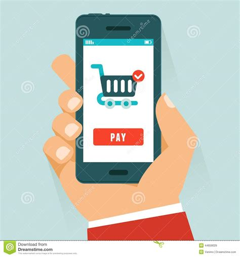 design by humans payment vector mobile payment concept in flat style stock vector