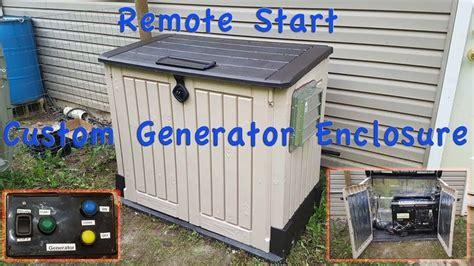 diy generator enclosure shed  remote start youtube