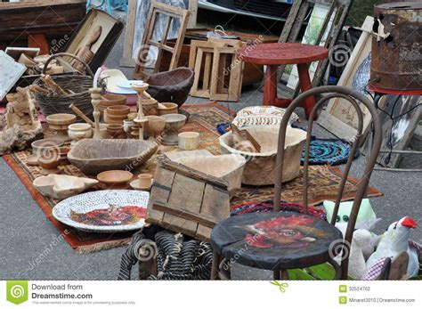 Handmade Items That Sell At Flea Markets - flea market with wooden items stock photo image 32524702