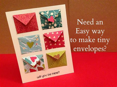 How To Make A Gift Card Envelope - how to make tiny envelope and a card tutorial maymay made it pinterest card