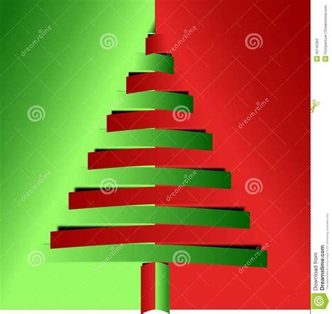 193 rbol de navidad rojo y verde de los papeles doblados