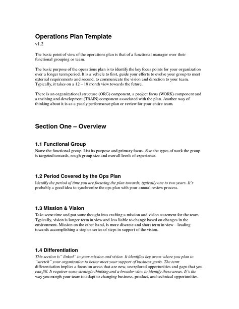 sle business plan operations section 28 images