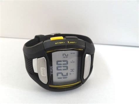 mio ebay mio stride accurate rate monitor built in pedometer sport ebay