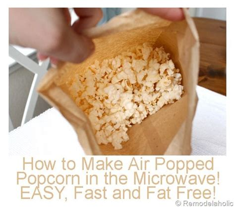 How To Make Microwave Popcorn In A Paper Bag - best 25 pop popcorn ideas on popcorn in