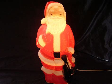 vintage christmas 1968 empire lighted santa blow mold santa