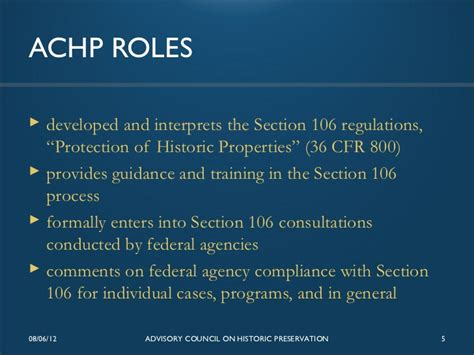 section 106 guidelines section 106 review for energy projects issues and