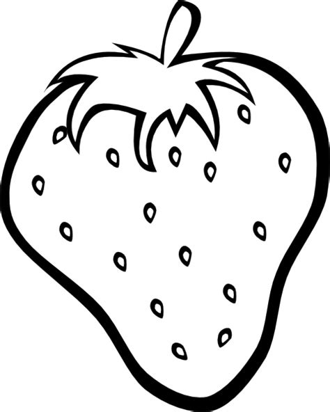 Strawberry Outline Drawing outline strawberry clip free vector in open office drawing svg svg vector illustration