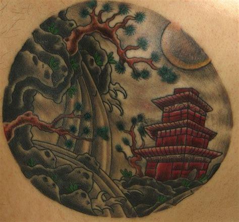 japanese landscape tattoo tattooimagesbiz