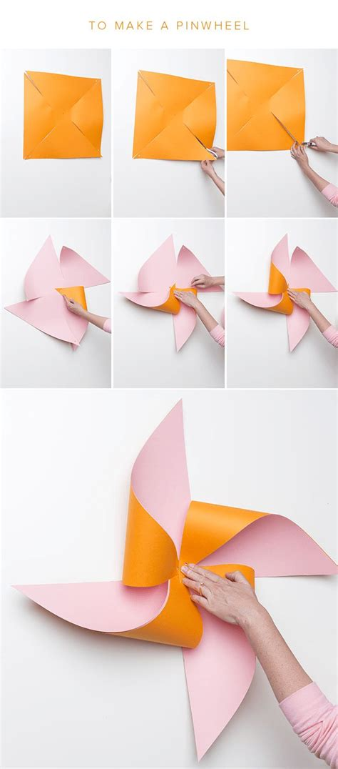 How To Make Paper Windmill Fans - 25 best ideas about pinwheel decorations on