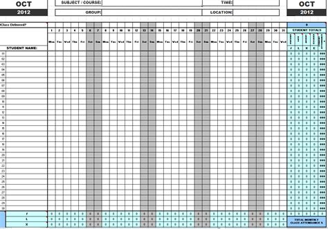 Attendance Spreadsheet by Day Care Monthly Attendance Record Pictures To Pin On
