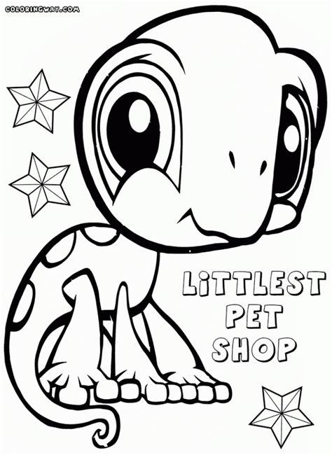 lps lizard coloring page 20 free printable littlest pet shop coloring pages
