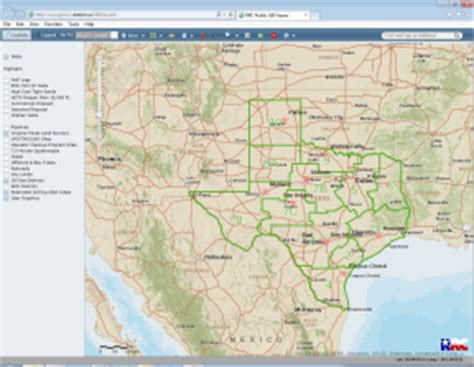 railroad commission gis map rrc gis viewer map