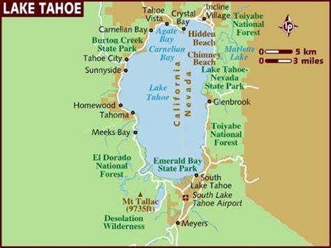 reno usa map map of lake tahoe