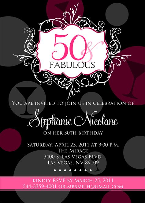 happy 50th birthday card template 50th birthday invitations new invitations