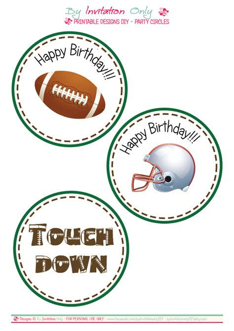 printable sports party decorations free football party printables from by invitation only diy