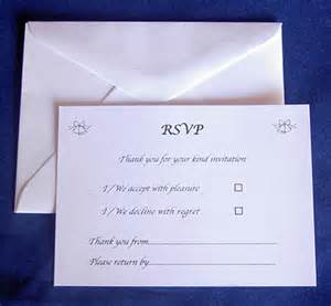 25 rsvp cards envelopes wedding reception anniversary