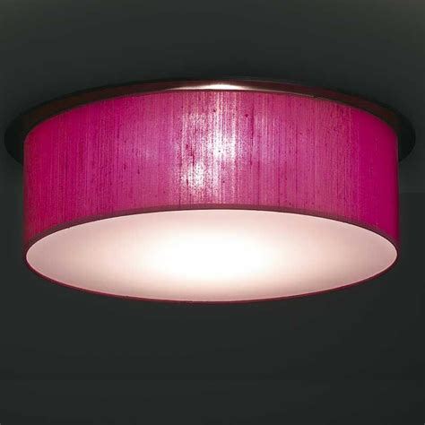 Pink Ceiling Lights Saturno Zen Flush Ceiling Mounted Drum Shade Andy Thornton