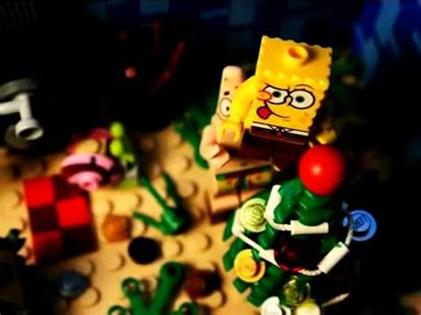 spongebob christmas song lego sponge bob don t be a it s