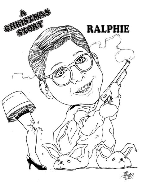 coloring pictures of christmas story ralphie christmas story by benito4u on deviantart