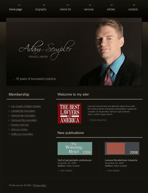 Lawyer Website Template 19038 Lawyer Web Templates